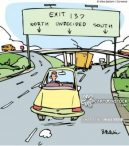 cartoon-showing-dilemma-of-a-driver-in-chosing-path